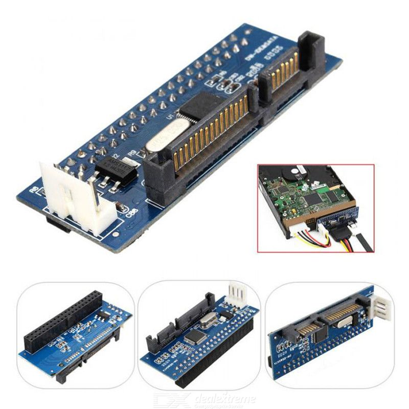 3.5 inch IDE to SATA 4-pin hard drive hard disk converter serial to parallel adapter with Extension Power Cord