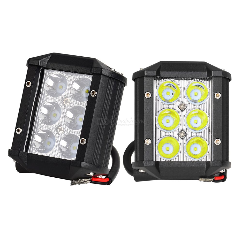 2Pcs 18W LED Chip 4'' Spot Flood Automobiles Car Working Lights DRL for Lada Niva Uaz Toyota Honda Mazda 18w 4inch