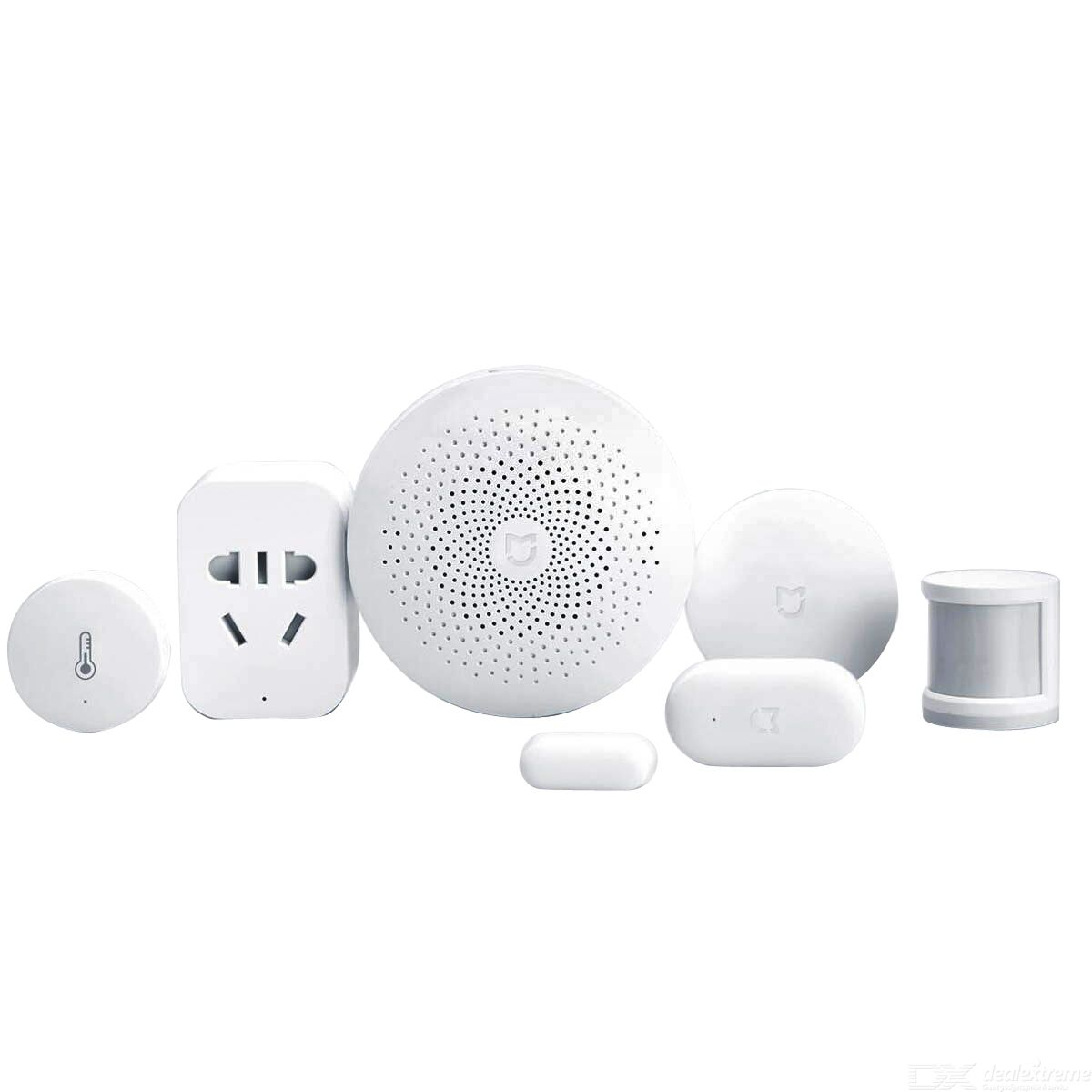 Original Xiaomi 6-in-1 Home Smart Devices (AU Plug), Gateway + Door / Window, Temperature / Humidity, Human Body Sensor