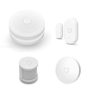 Original Xiaomi Sensors Kit for Smart Home Security - White, GateWay + Human Body Sensor + Wireless Switch + Door and Wind