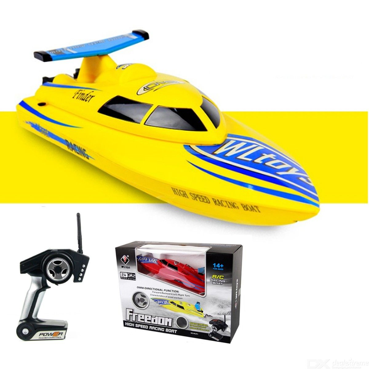 WLtoys WL911 4CH 2.4G High Speed Racing RC Boat 24KMH Remote Control Toys