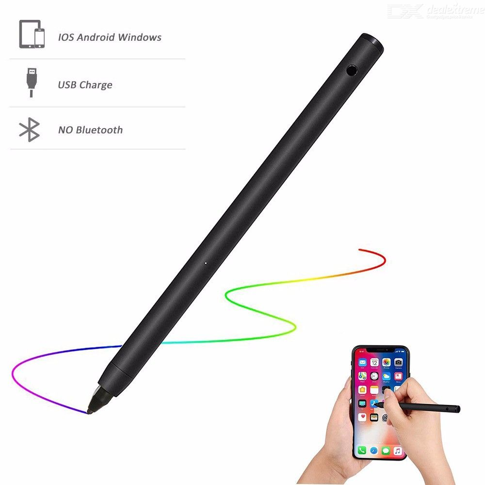 Olygus Electronic Active Stylus Digital Pens with 1.8 mm Fine Point Copper Tip for iPhone iPad Samsung Tablets