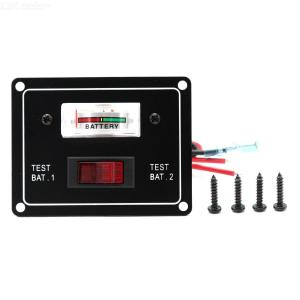 SP6010 Car RV Yacht Dual Battery Tester with Switch