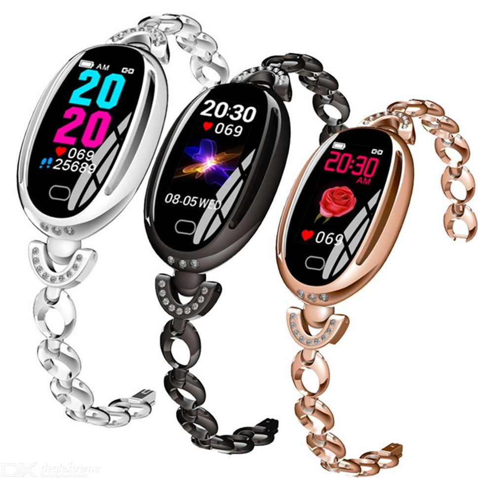 E68 Smart Bracelet Fitness Tracker Watch With Sports Modes Blood Pressure Heart Rate Monitor And Chain Wristband