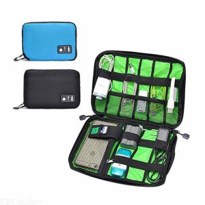 Waterproof Nylon Cable Holder Bag Electronic Accessories USB Drive Storage Case  For  Outdoor Travel Camping Hiking