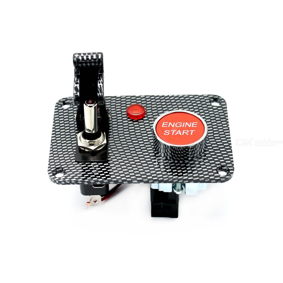 S3403-Z Carbon fiber panel two sets of toggle switch panel 1 carbon fiber  aviation cover 1 ignition switch (with light)
