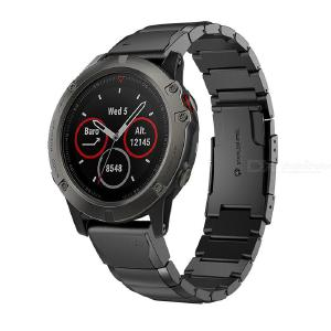 Easy-fit Quick Release Stainless Steel Band Strap for Garmin Fenix 3 and Fenix 5X Smart Watch