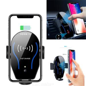 Auto Clamping Wireless Car Charger Mount, 10W7.5W Fast Charging Car Phone Holder,Windshield Dashboard Air Vent