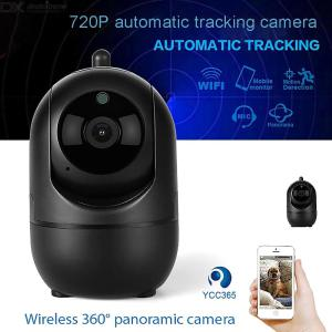 WiFi Home Security Camera 720P HD Wireless Surveillance System With Motion Detection Auto Motion Tracking