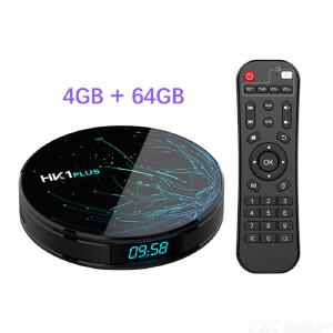 HK1 Plus Smart TV Box Android 8.1 OS S905X2 Quad-Core Lpddr4 4Gb 64Gb 2.4G5G Dual WiFi USB3.0 Bt4.0 4K HDR H.265 TV Set Top Box