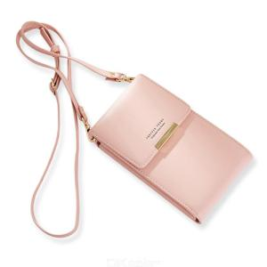 PU Leather Shoulder Bag Card Pocket Wallet Portable Cash Mobile Phone Bags For Women