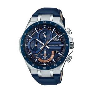 Casio Edifice EQS-920BL-2AV Solar Chronograph Watch With Leather Band