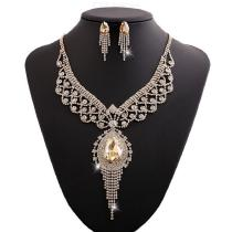 Crystal-Pendant-Necklace-Earrings-Jewelry-Set-For-Women