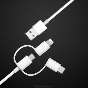 Original Xiaomi 3-in-1 Cable Micro USB Type C Lightning Charging And Syncing Cord