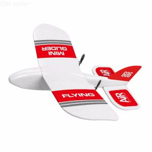 KF606 Mini Indoor RC Glider Airplane 2.4GHz Remote Control Gliding Model Aircraft For Children Beginners