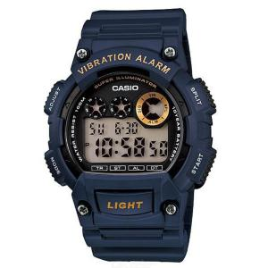 Casio W-735H-2AVDF Digital Sports Watch - Blue + Golden (Without Box)