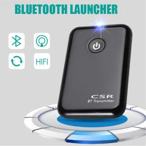 Bluetooth Transmitter 1-Drag-2 Dual Port Portable Wireless Stereo Music Transmitter for 3.5mm Audio Devices
