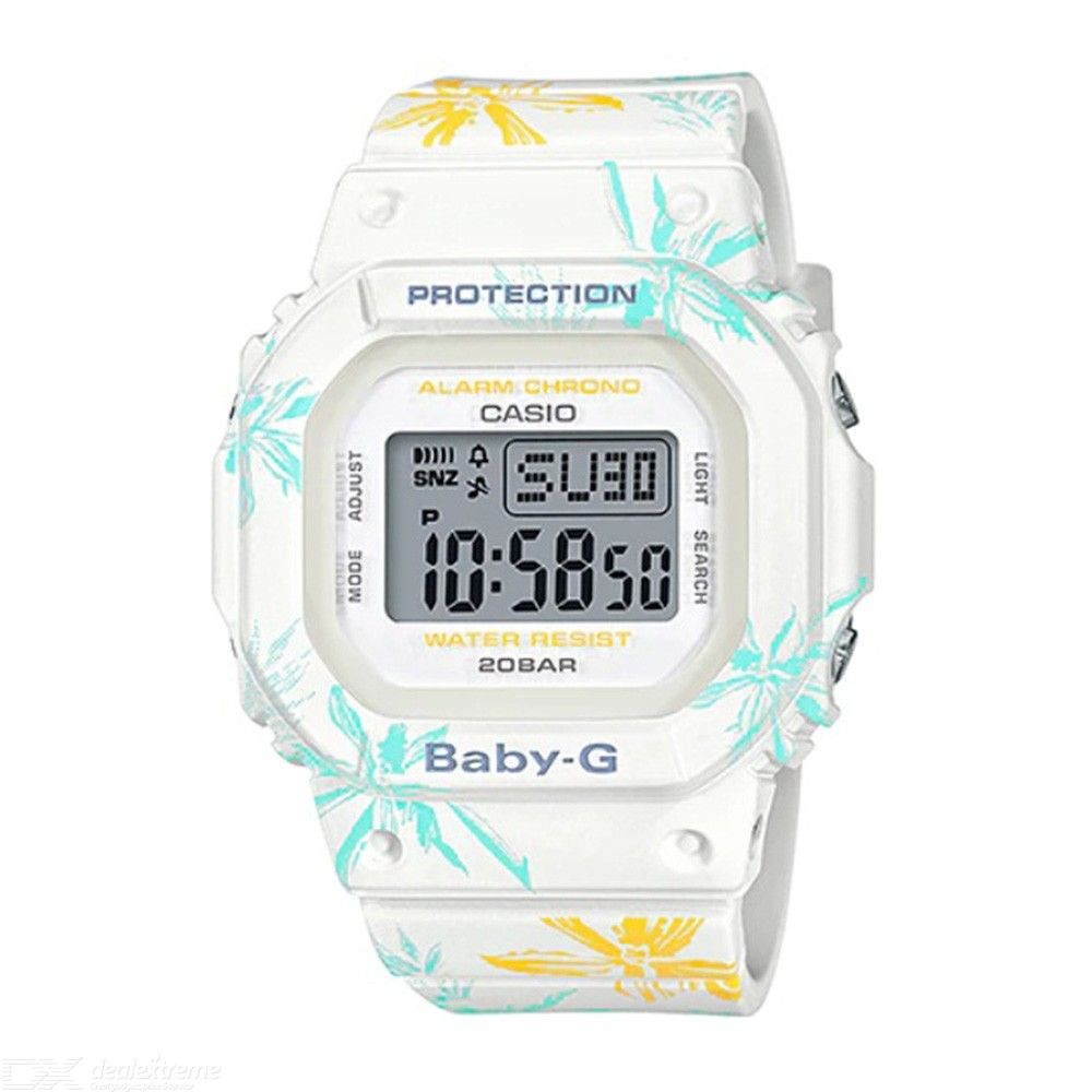 Casio Baby-G BGD-560CF-7 Floral Pattern Digital Watch - White