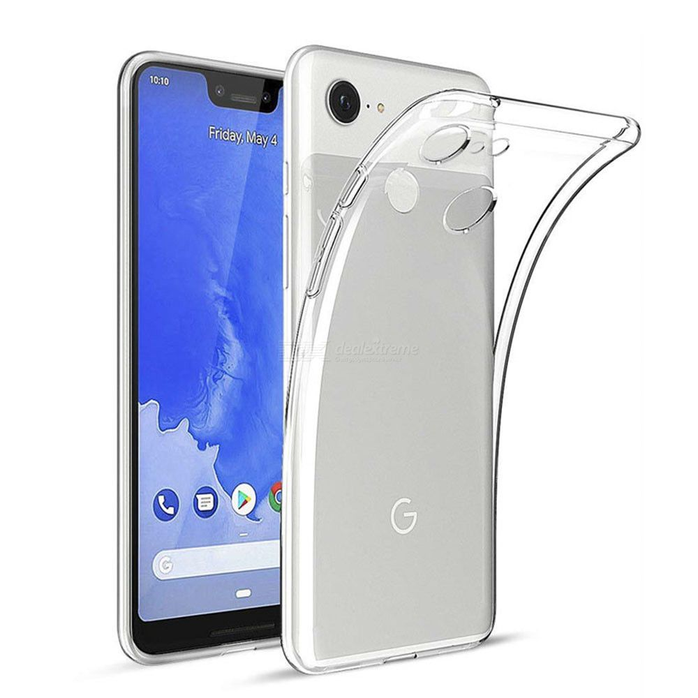 Naxtop Clear TPU Protective Phone Case for Google Pixel 3 XL Ultral-thinFull-CoverOriginal Touch