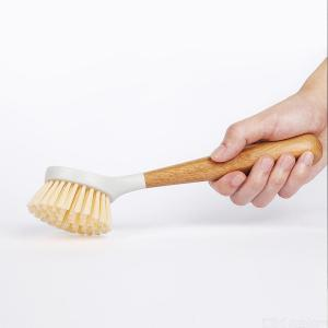 Original Xiaomi Youpin Pan Brush Multifunctional Nylon Dish Bowl Cleaning Brush With Bamboo Long Handle For Kitchen