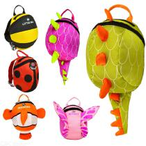 Children-3D-Cartoon-Backpack-Toddler-Fashion-Cute-School-Bag-With-Anti-lost-Belt-For-Boys-Girls