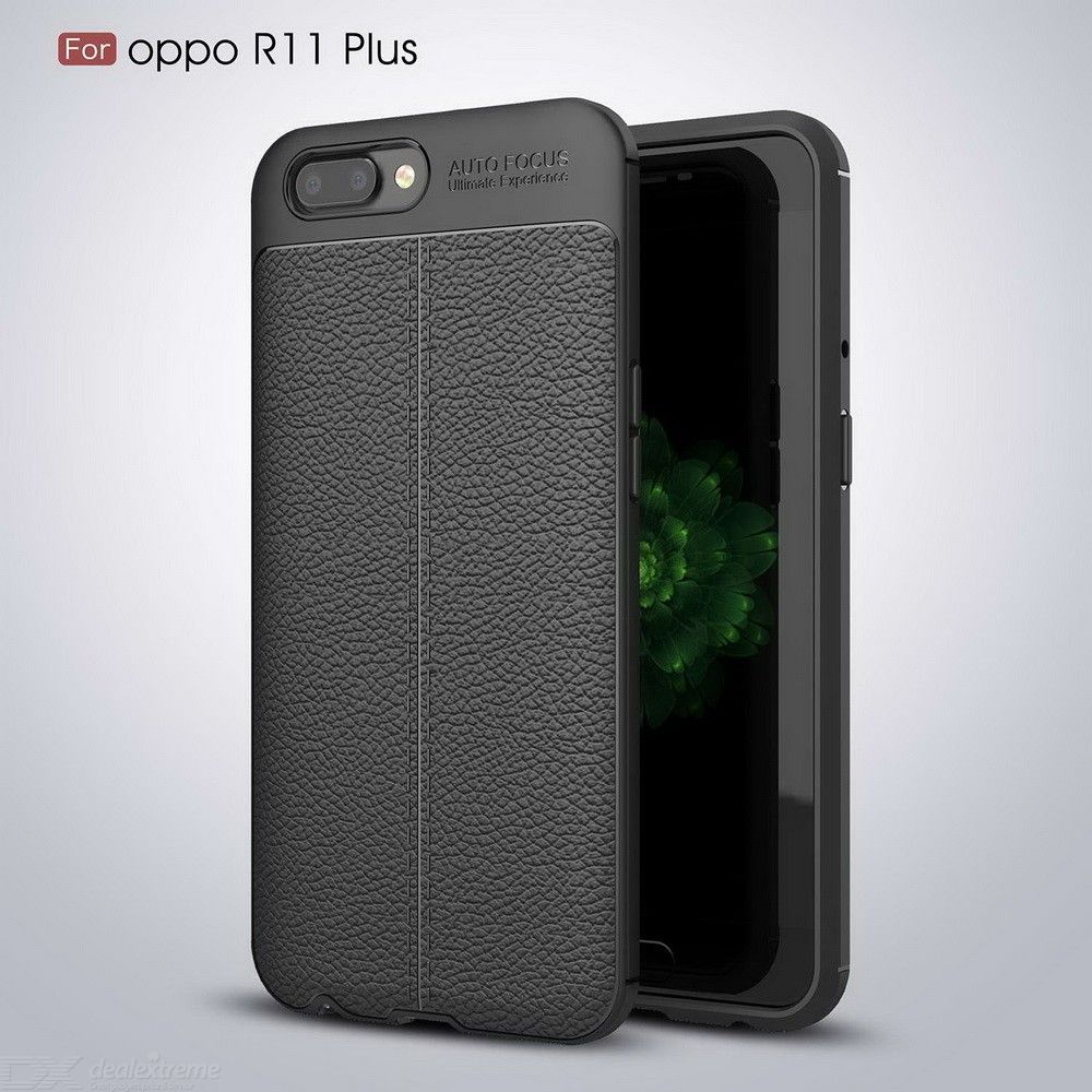 huge selection of 9b5c7 9bda9 Phone Case Litchi Texture TPU Phone Protection For OPPO R11 Plus