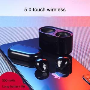 TWS-X21 Bluetooth 5.0 Wireless Earphones Water Resistant Touch Control Headphones With Mic Charging Case For Apple Andro