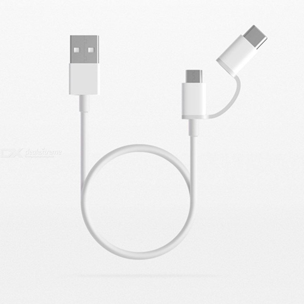 Original Xiaomi 2-in-1 Charge Cable 2.4A Type-C Micro USB Charging And Syncing Cord