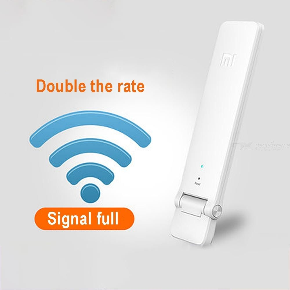 Original Xiaomi WiFi Range Extender Repeater 2 4GHz 300Mbps Wireless Signal  Booster For WiFi Router - USB Powered