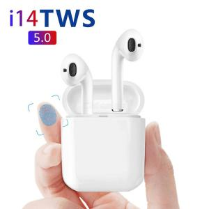 I14 Bluetooth 5.0 Wireless Earphones 3D Stereo Sport TWS Headphones With Mic Charging Case For Apple Android