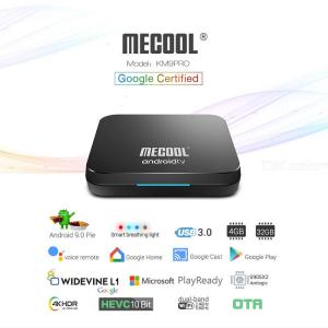 Mecool KM9 PRO ATV 4GB 64GB Android 9.0 TV-box Google-certifierad Amlogic S905X2 Dubbel Wifi 4K Smart Box-eu-kontakt