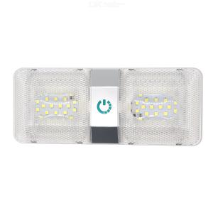 48LED 6W DC 11-18V Led RV Ceiling Dome Light RV Interior Lighting for Trailer Camper with Touch Switch