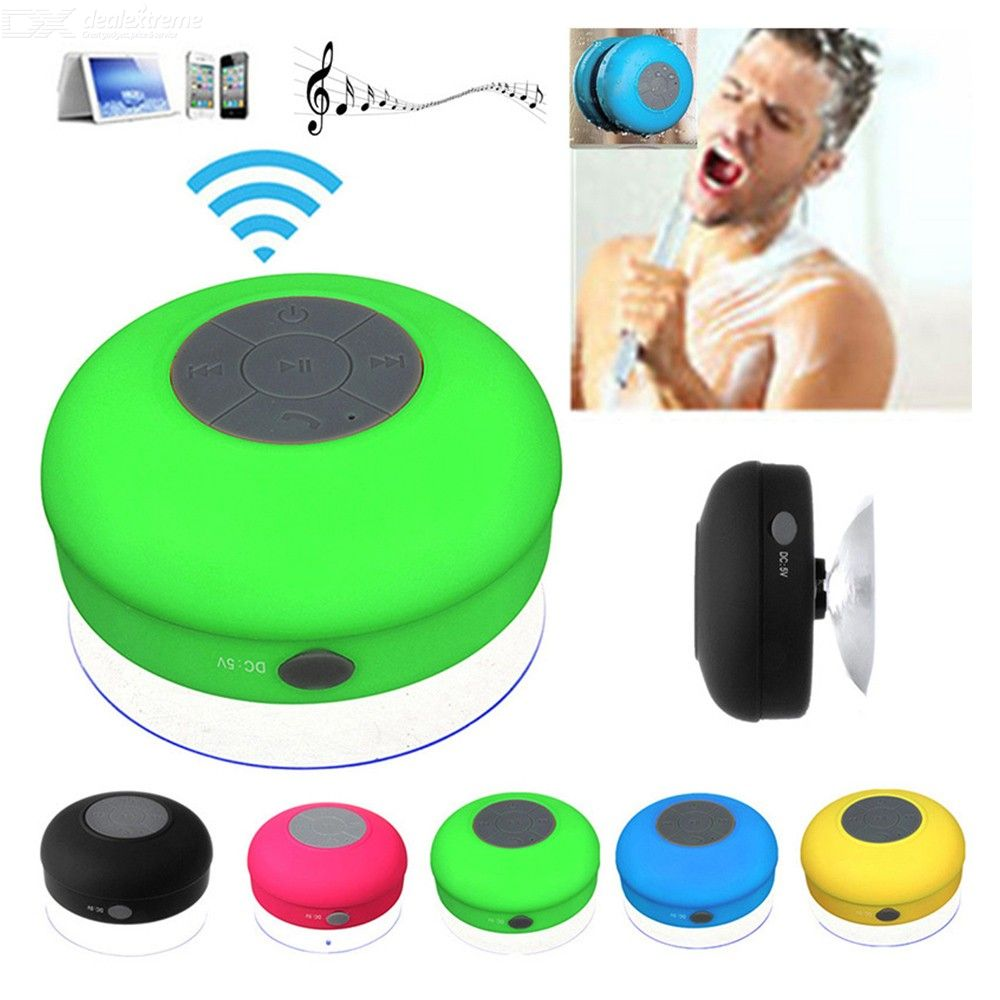 Portable Waterproof Mini Bluetooth Speaker Wireless Handsfree Speakers With Suction Cup For Bathroom Beach