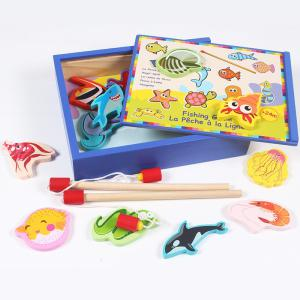 Children Wooden Magnetic Fishing Toy Set  Kids Fishing Toys Early Childhood Education Toys