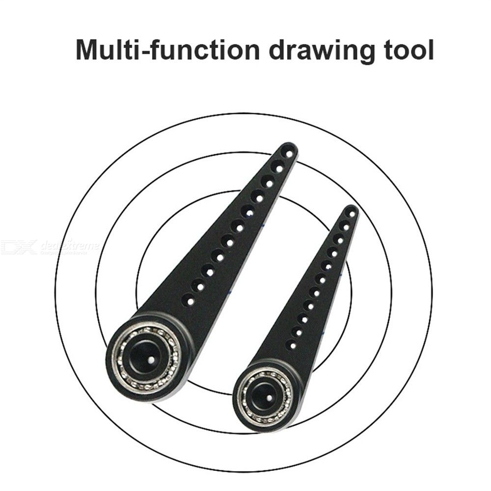 Dealextreme / Metal Compass Multifunctional Drawing Tool Professional Drawing Ruler Drawing Circle Without Leaving Holes For School Office