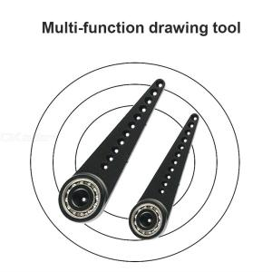 Metal Compass Multifunctional Drawing Tool Professional Drawing Ruler Drawing Circle Without Leaving Holes For School Office