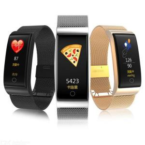 Fitness Tracker Waterproof Smart Sport Bracelet Activity Tracker With Color Screen Alloy Band Heart Rate Sleep Monitor