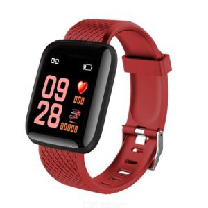 116plus Bluetooth Fitness Tracker Waterproof Smart Sport Bracelet With Color Screen Heart Rate Sleep Monitor