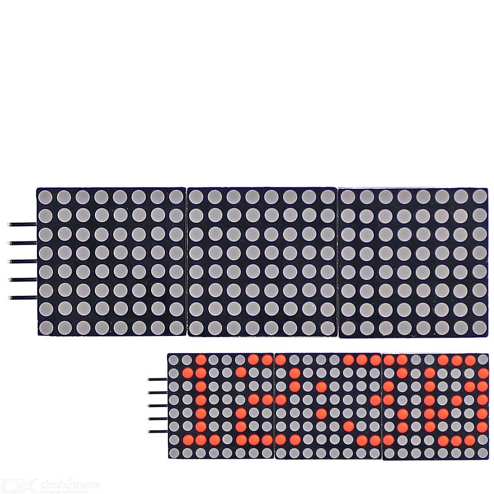 Dx coupon: 0.8 inch 8  24 Cascadable Red LED Dot Matrix Display Module with SPI interface for Arduino UNO R3
