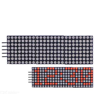 0.8 inch 8  24 Cascadable Red LED Dot Matrix Display Module with SPI interface for Arduino UNO R3