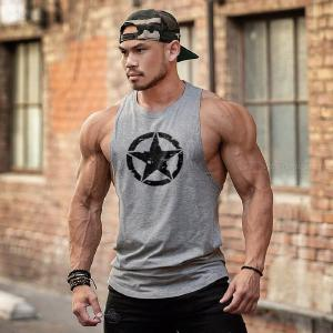 Mens Training Quick-Dry Sports Tank Tops Shirt For Gym Fitness Bodybuilding Running Jogging
