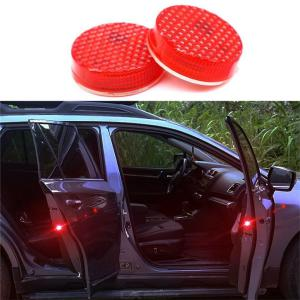 Quelima 2 Pack Car Door Warning Light 5 LED, Flashing Warning Light, Built-in Magnetic Sensor