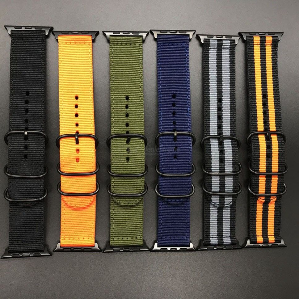 Replacement Watch Strap Solid Nylon Watch Band For Iwatch 1 2 3