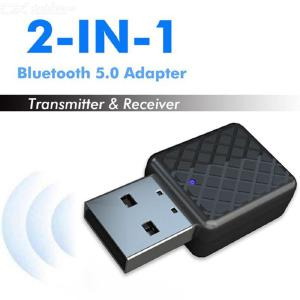 Portable Bluetooth 5.0 Adapter Transmitter Stereo Receiver 3.5mm Audio Music Sound Dongle for TV PC Earphones Speakers
