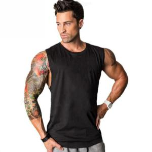 Summer  Male  Cotton  Fitness  Tank  Top   Casual  O-neck  Sleeveless  Sports  T-shirt   For  Men
