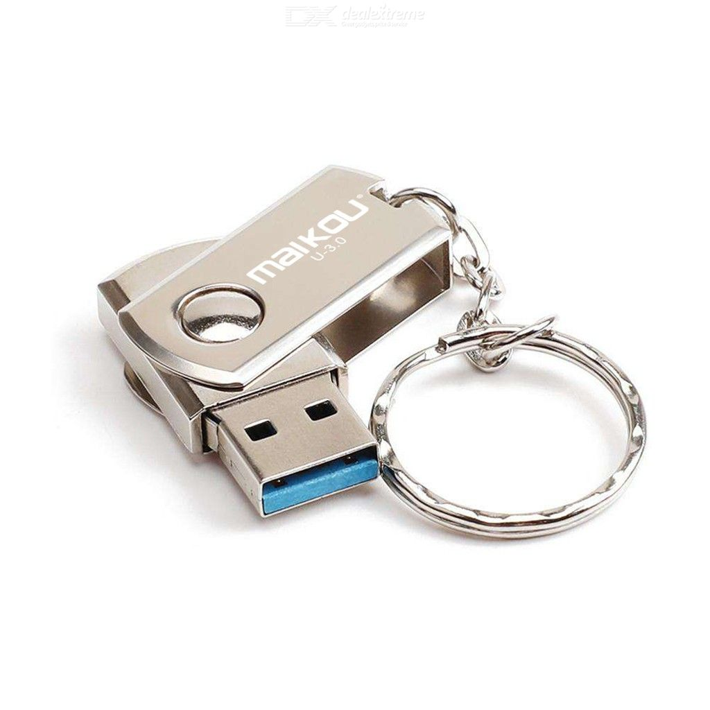 Maikou High Speed USB 3.0 Flash Drive 8GB16GB32GB64GB128GB Rotating Cover Memory Stick with Key Ring