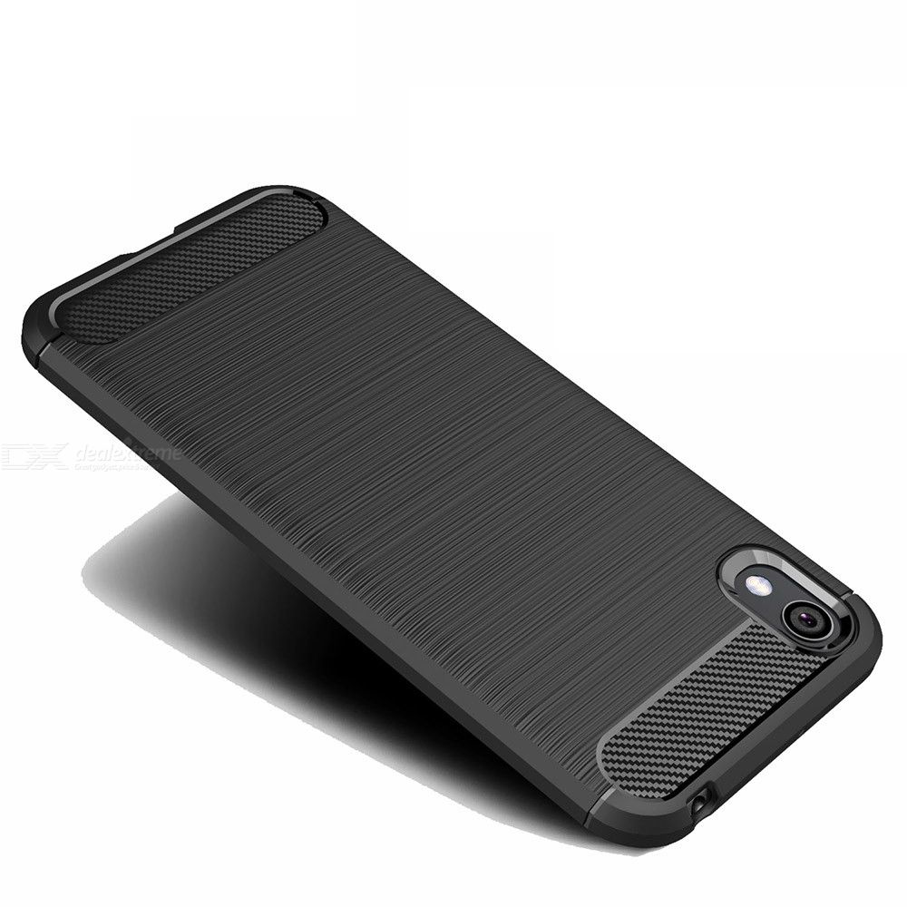 Naxtop Carbon Fiber Brushed Soft Bumper Back Cover Full Protective Phone Case For Huawei Y5 2019  Honor 8s