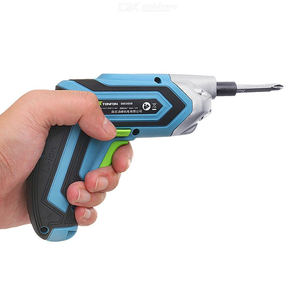 XIAOMI Tonfon 3.6V Cordless Electric Screwdriver USB Rechargable Power Screw Driver With Screw Bits