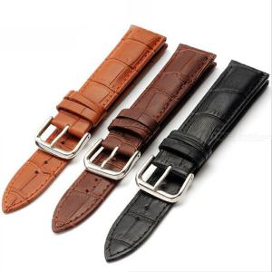 Comfort Genuine Leather Watch Band Premium Cowhide Leather Watch Strap