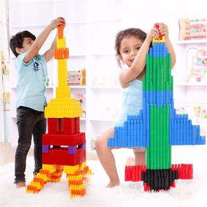 Creative Bullets Plastic Blocks Kids Bullet Shape Building DIY Toys Early Education Puzzle Toys